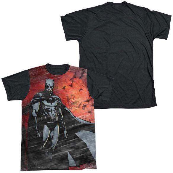 Batman Begins Frenzy Short Sleeve Adult Front Black Back T-Shirt