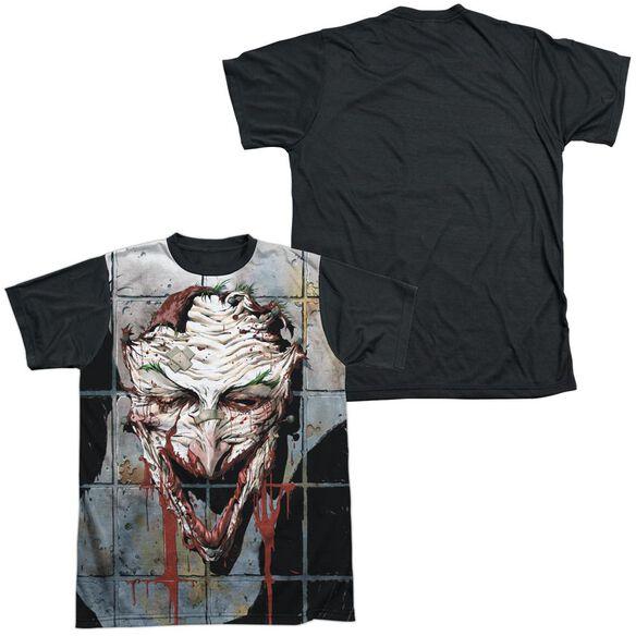 Batman Smile Short Sleeve Adult Front Black Back T-Shirt