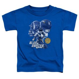 Power Rangers Blue Ranger Short Sleeve Toddler Tee Royal Blue T-Shirt