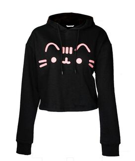 Pusheen Ears Women's Crop Hoodie