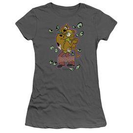 Scooby Doo Being Watched Short Sleeve Junior Sheer T-Shirt