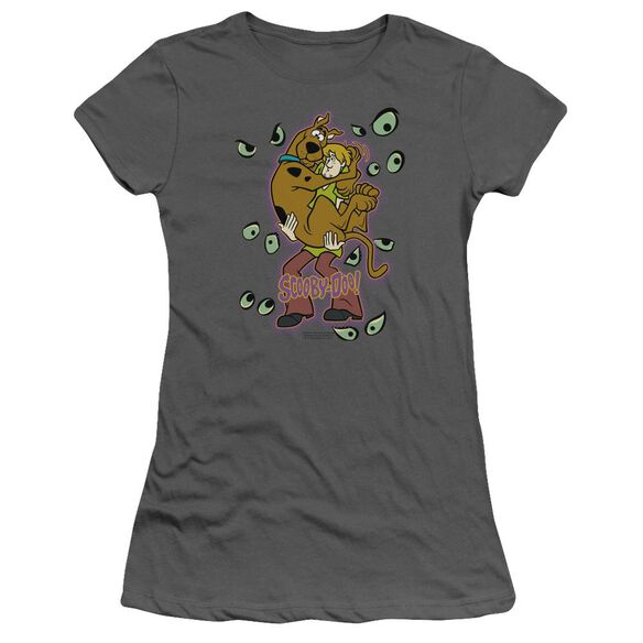 Scooby Doo Being Watched Short Sleeve Junior Sheer T-Shirt