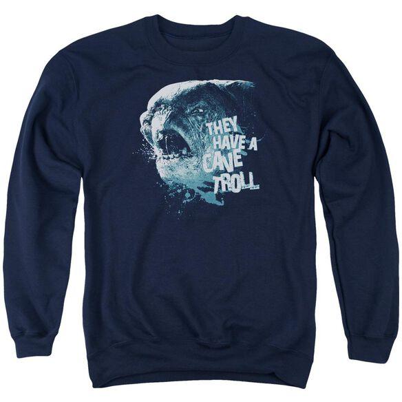 Lor Cave Troll Adult Crewneck Sweatshirt