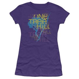 One Tree Hill Title Short Sleeve Junior Sheer T-Shirt