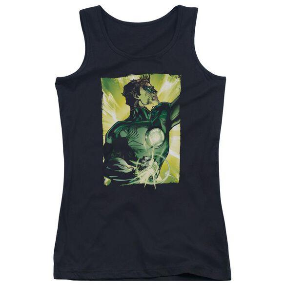 Green Lantern Up Up - Juniors Tank Top - Black