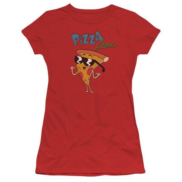 Uncle Grandpa Pizza Steve Short Sleeve Junior Sheer T-Shirt