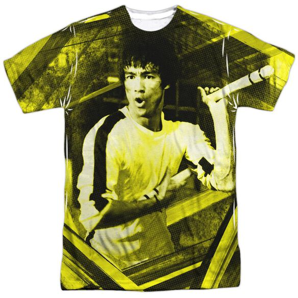 Bruce Lee Stripes Short Sleeve Adult 100% Poly Crew T-Shirt