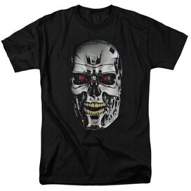 Terminator Skull Short Sleeve Adult Black T-Shirt