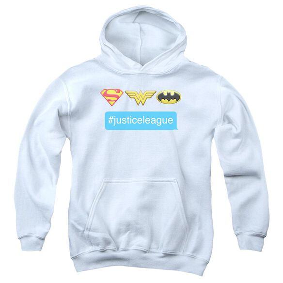 Dc Hashtag Jla Youth Pull Over Hoodie