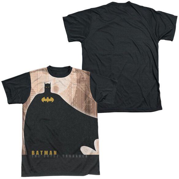 Batman City Crusader Short Sleeve Adult Front Black Back T-Shirt