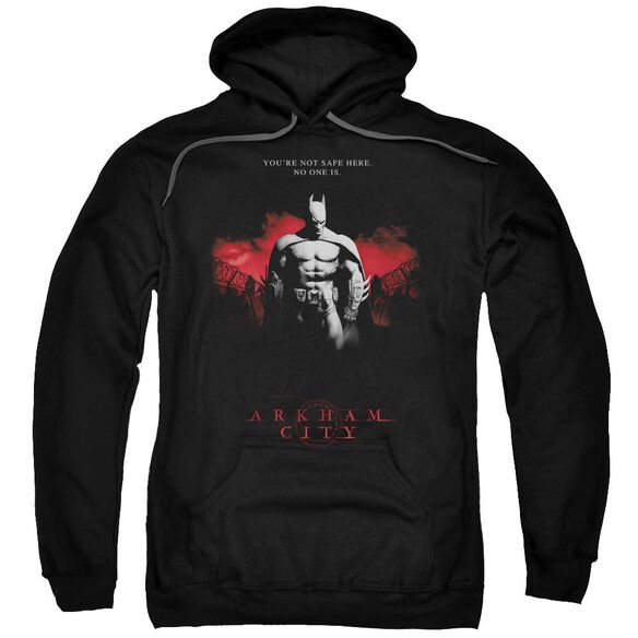 Arkham City Standing Strong Adult Pull Over Hoodie