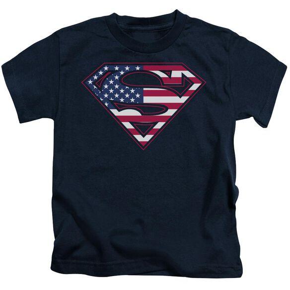 Superman U S Shield Short Sleeve Juvenile Navy Md T-Shirt