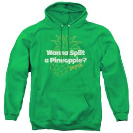 PSYCH PINEAPPLE SPLIT - ADULT PULL-OVER HOODIE - KELLY GREEN