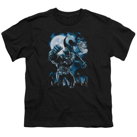Batman Moonlight Bat Short Sleeve Youth T-Shirt