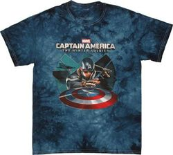 Roblox Winter Soldier Shirt Shop Now For The Captain America Winter Soldier Shield Throw Tie Dye T Shirt Fandom Shop