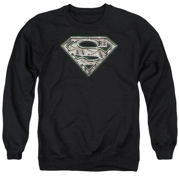 Superman All About The Benjamins Adult Crewneck Sweatshirt