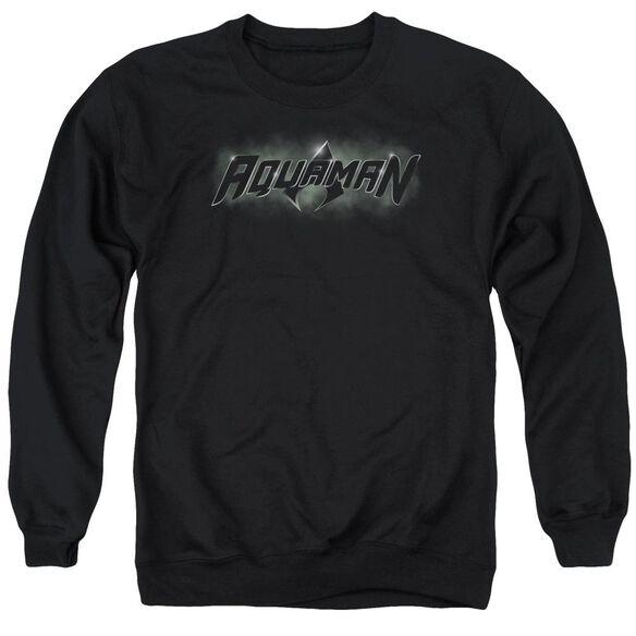 Jla Aquaman Title Adult Crewneck Sweatshirt