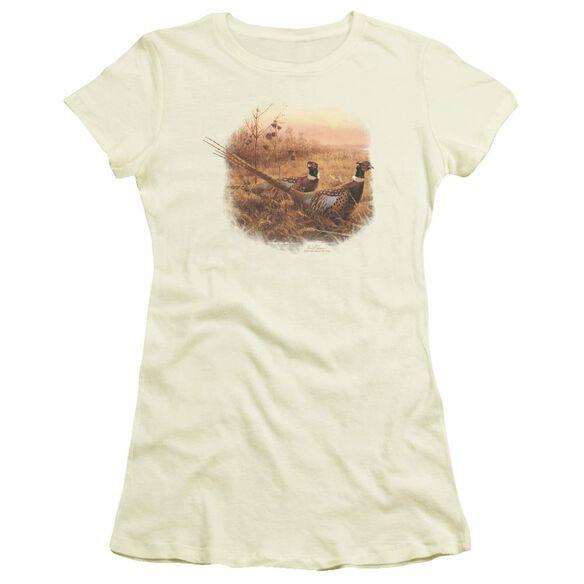 Wildlife First Alert Pheasants Short Sleeve Junior Sheer T-Shirt