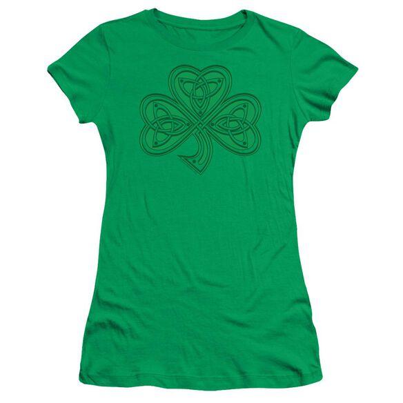 Celtic Shamrock Short Sleeve Junior Sheer Kelly T-Shirt