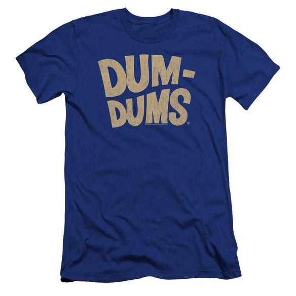 Dum Dums Distressed Logo Premuim Canvas Adult Slim Fit Royal