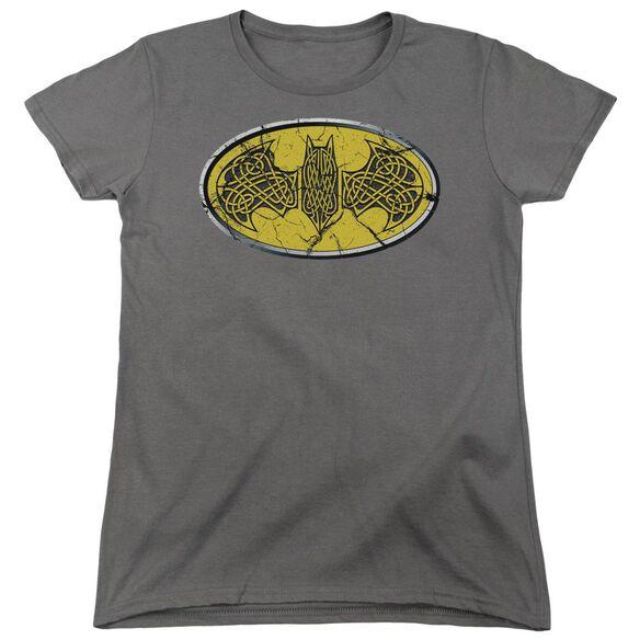Batman Celtic Shield Short Sleeve Womens Tee T-Shirt