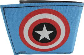 Captain America Shield Blue Bi-fold Wallet