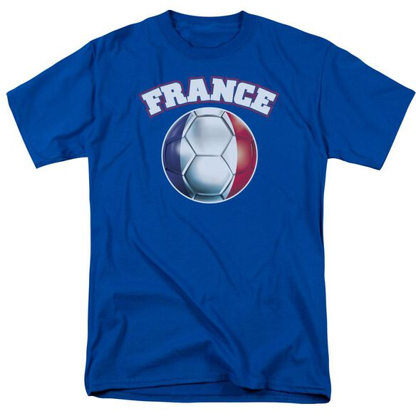 France Short Sleeve Adult Royal Blue T-Shirt