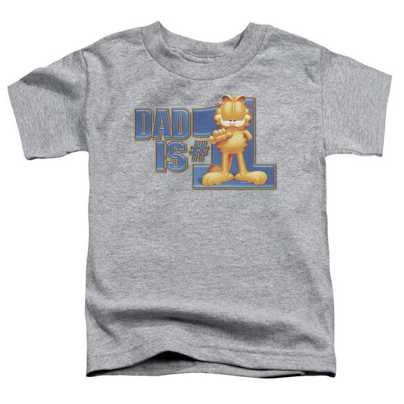 Garfield Dad Is Number One Short Sleeve Toddler Tee Athletic Heather Md T-Shirt