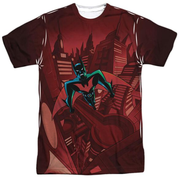 Batman Beyond Red Gotham Short Sleeve Adult Poly Crew T-Shirt