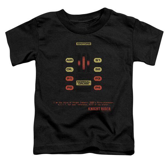 Knight Rider Kitt Consol Short Sleeve Toddler Tee Black T-Shirt