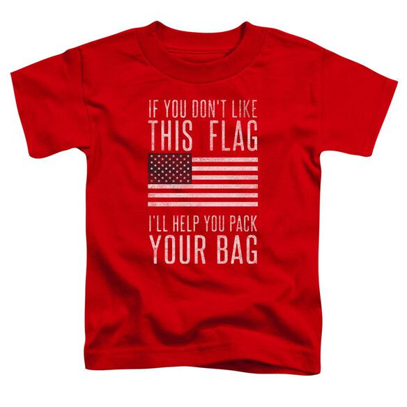Pack Your Bag Short Sleeve Toddler Tee Red T-Shirt