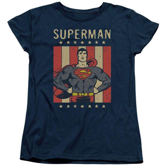 Dc Retro Liberty Short Sleeve Womens Tee T-Shirt