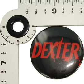 Dexter Name Black Button