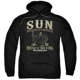 Sun Records Rockabilly Bird Adult Pull Over Hoodie Black