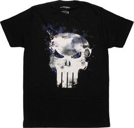 Punisher Paint Splatted Logo Mighty Fine T-Shirt