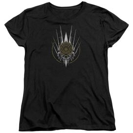 Bsg Crest Of Ships Short Sleeve Womens Tee T-Shirt