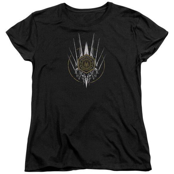 Bsg Crest Of Ships Short Sleeve Womens Tee T-Shirt