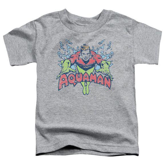 Dc Splish Splash Short Sleeve Toddler Tee Athletic Heather T-Shirt