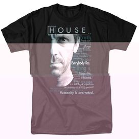 HOUSE HOUSEISMS - S/S ADULT 18/1 - BLACK T-Shirt