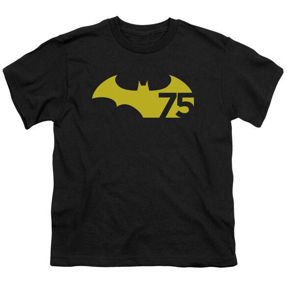 Batman 75 Logo 2 Short Sleeve Youth T-Shirt