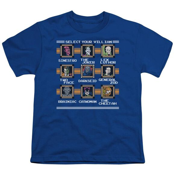 Dc Stage Select Short Sleeve Youth Royal T-Shirt