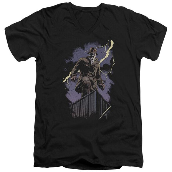 Watchmen Rorschach Night Short Sleeve Adult V Neck T-Shirt