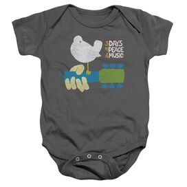 Woodstock Perched Infant Snapsuit Charcoal
