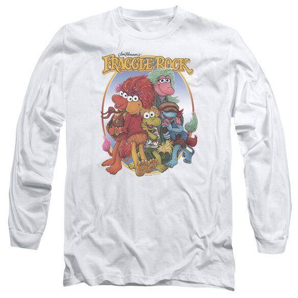 Fraggle Rock Group Hug Long Sleeve Adult T-Shirt