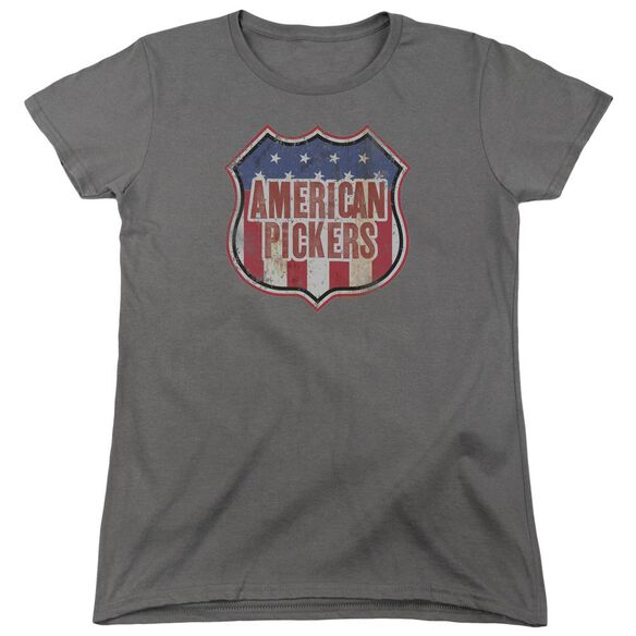 American Pickers Vintage Sign Short Sleeve Womens Tee T-Shirt