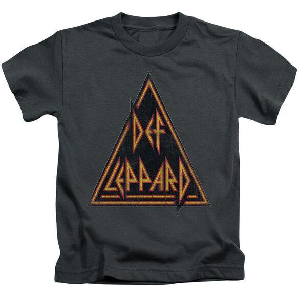 Def Leppard Distressed Logo Short Sleeve Juvenile T-Shirt