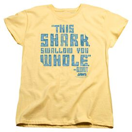 JAW WALLOW YOU WHOLE - S/S WOMENS TEE - BANANA T-Shirt