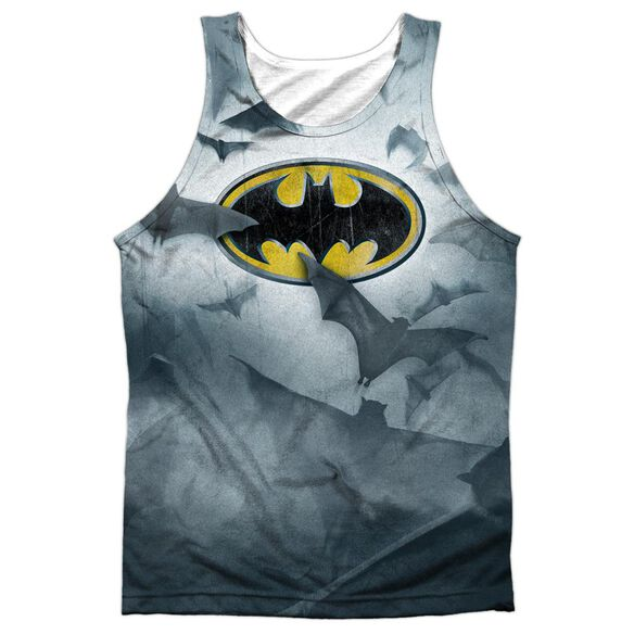 Batman Bats Logo Adult 100% Poly Tank Top