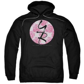 Young And The Restless Young Roses Adult Pull Over Hoodie Black