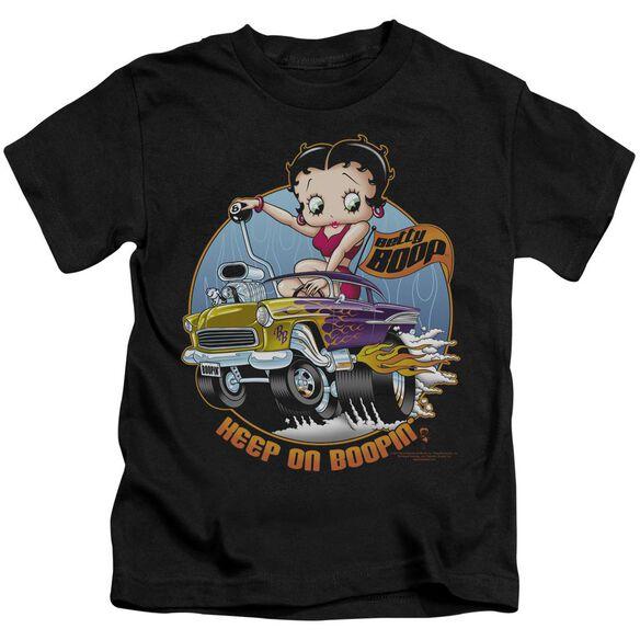 Betty Boop Keep On Boopin Short Sleeve Juvenile Black T-Shirt